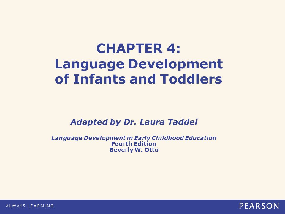 Otto.Language Development in Early Childhood Education, 4e.