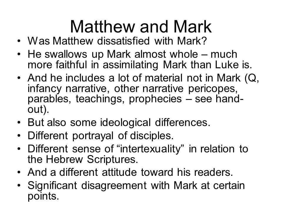 Matthew -- authorship Again Papias (c.
