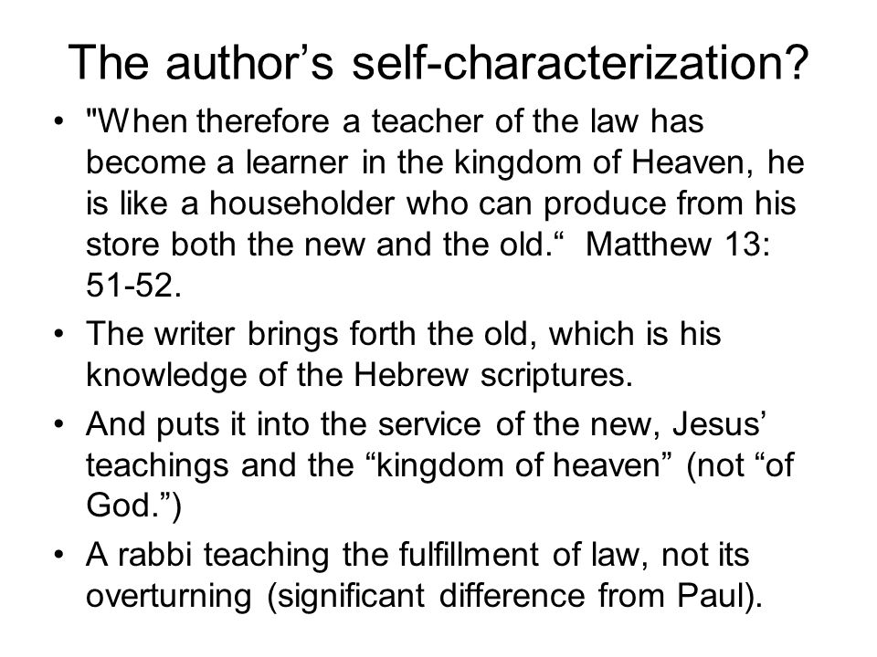 The author's self-characterization?