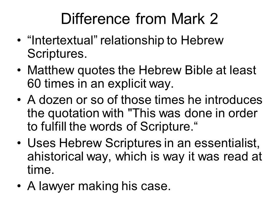Matthew's beginning A genealogy.Why.