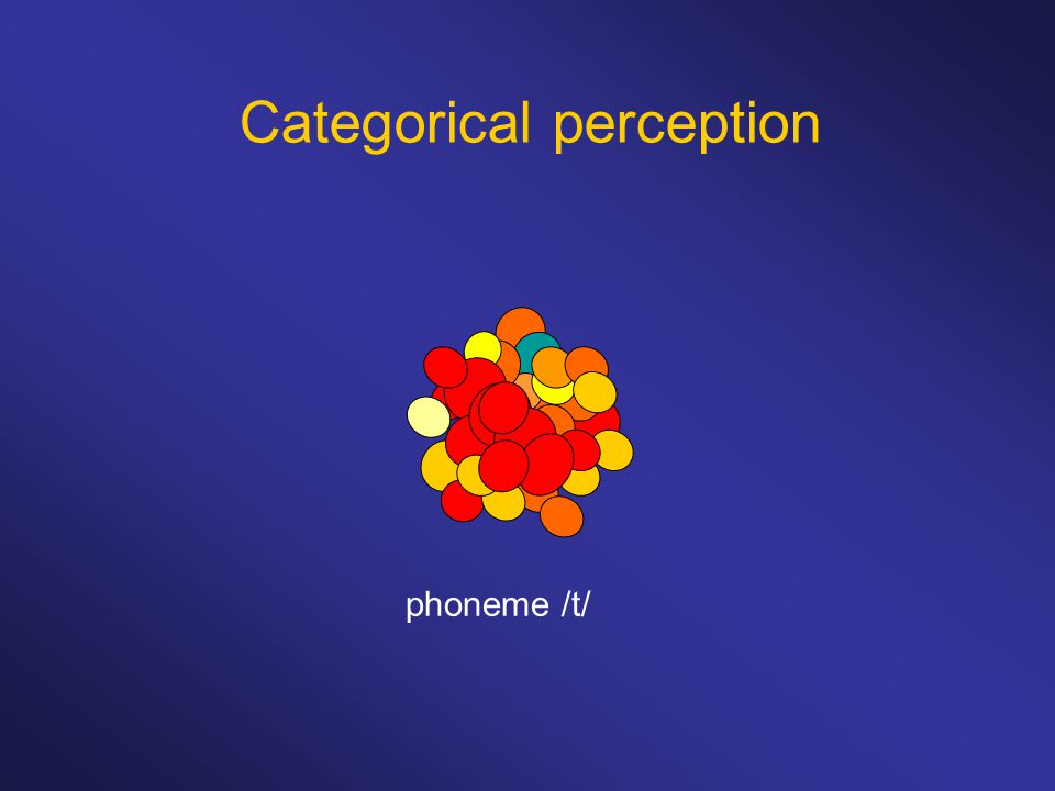 phoneme /t/ Categorical perception