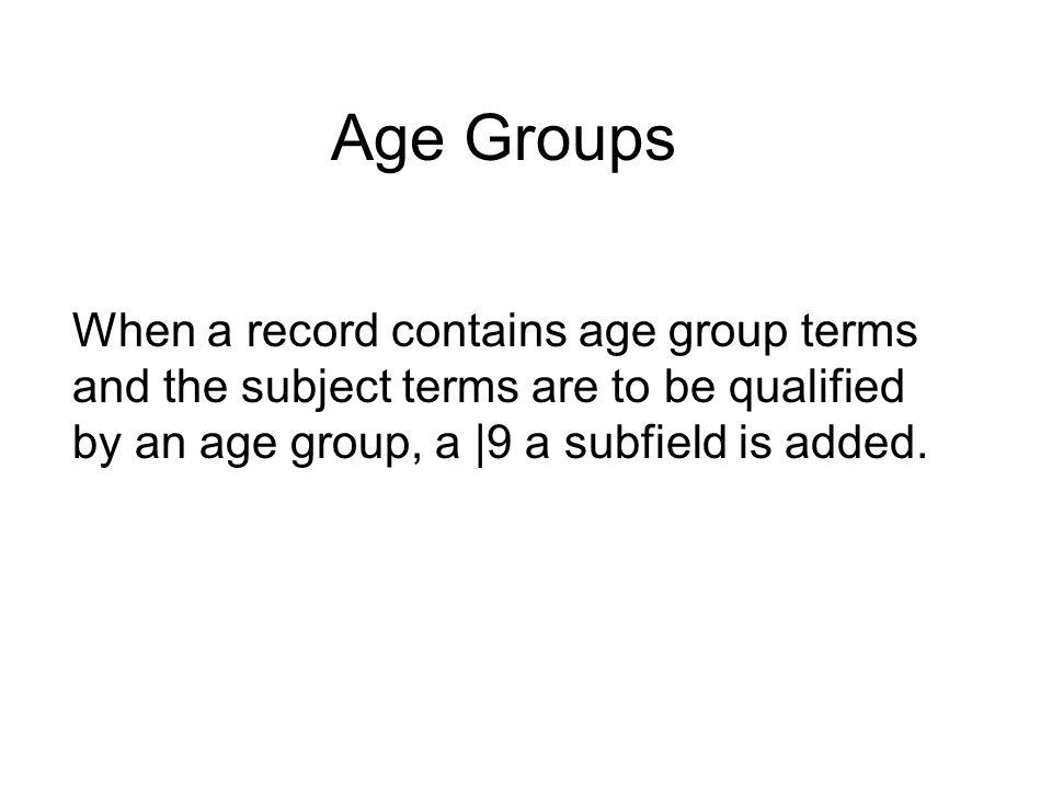 Geographic Subheading Geographic subheading is stored in 651.