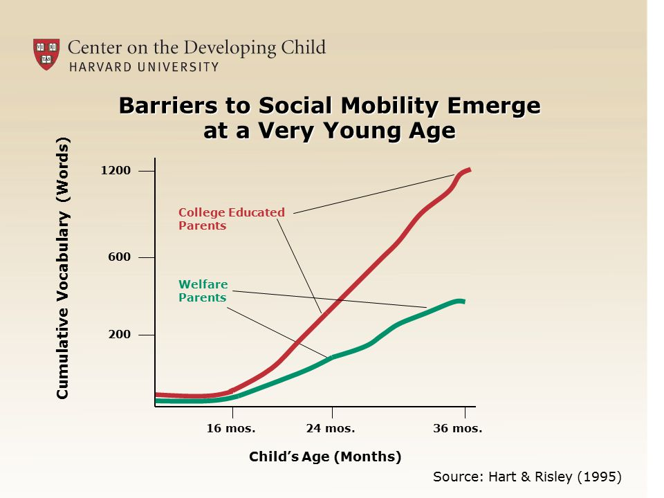 Barriers to Social Mobility Emerge at a Very Young Age 16 mos.24 mos.36 mos.