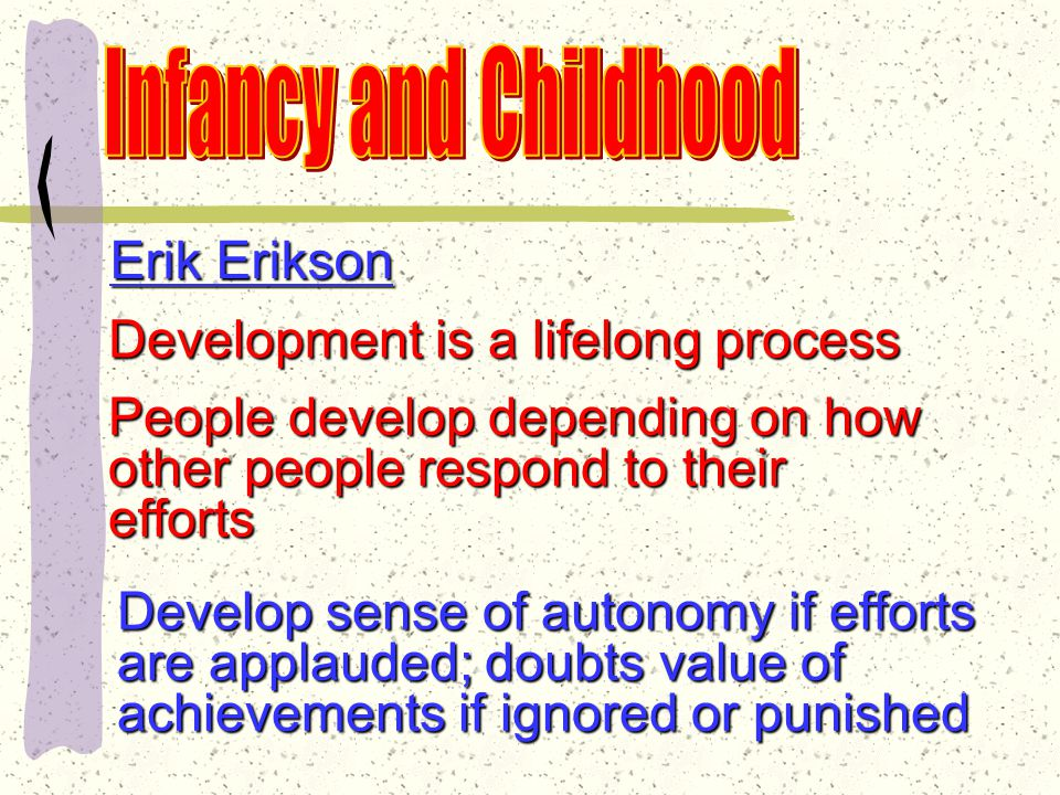Erik Erikson Socialization is neither so sudden nor so emotionally violent as Freud claims Psychosocial develop- ment—social approval— just as important as a child's sexual and aggressive urges
