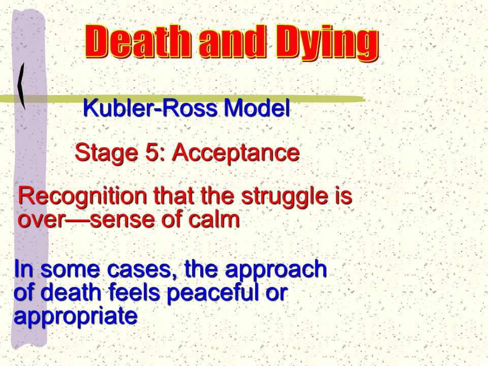 Kubler-Ross Model Stage 4: Depression Become aware of losses they are incurring......