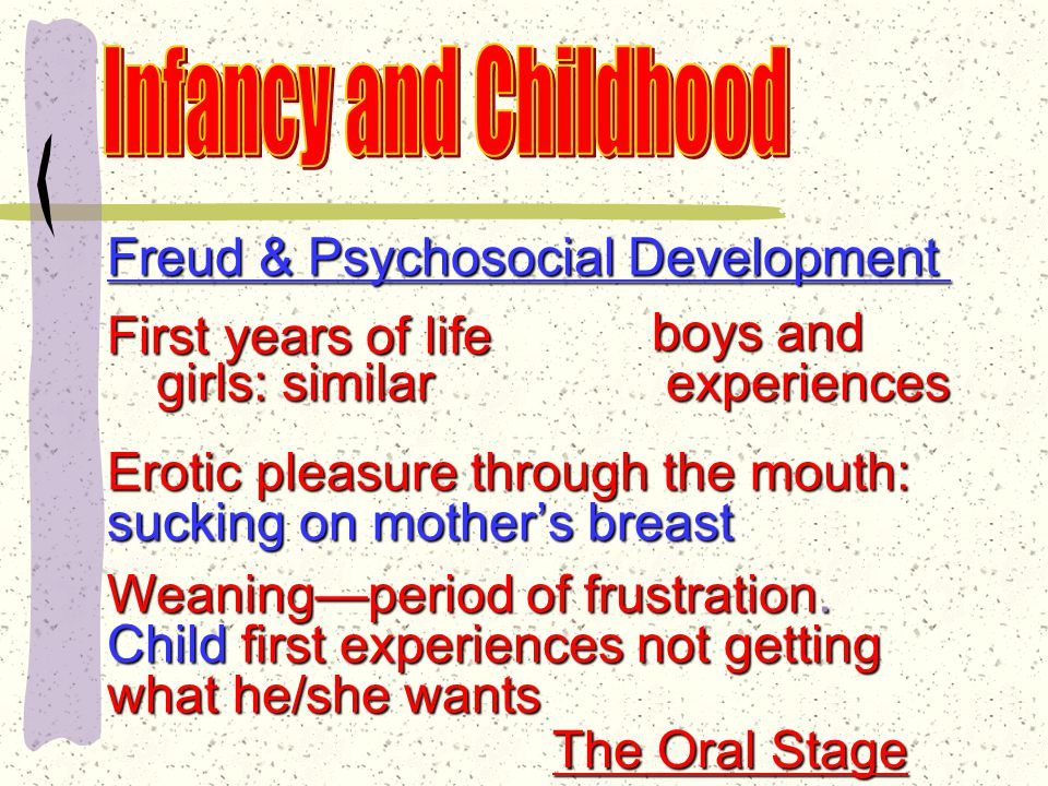 Freud & Psychosocial Development All children are born with powerful sexual and aggressive urges that must be tamed.