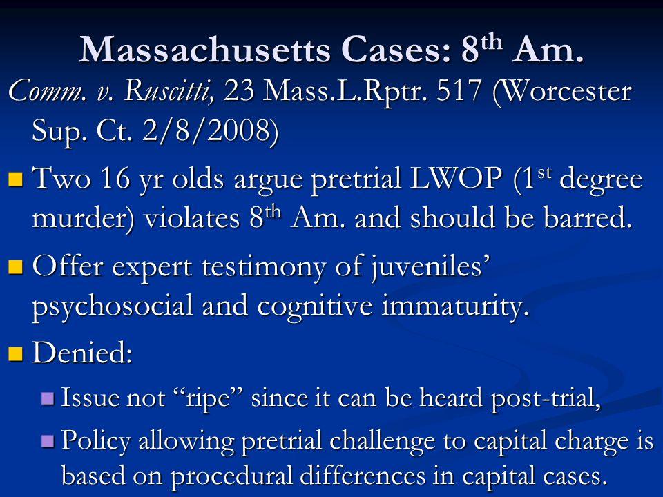 Massachusetts Cases: 8 th Am. Comm. v. Ruscitti, 23 Mass.L.Rptr.