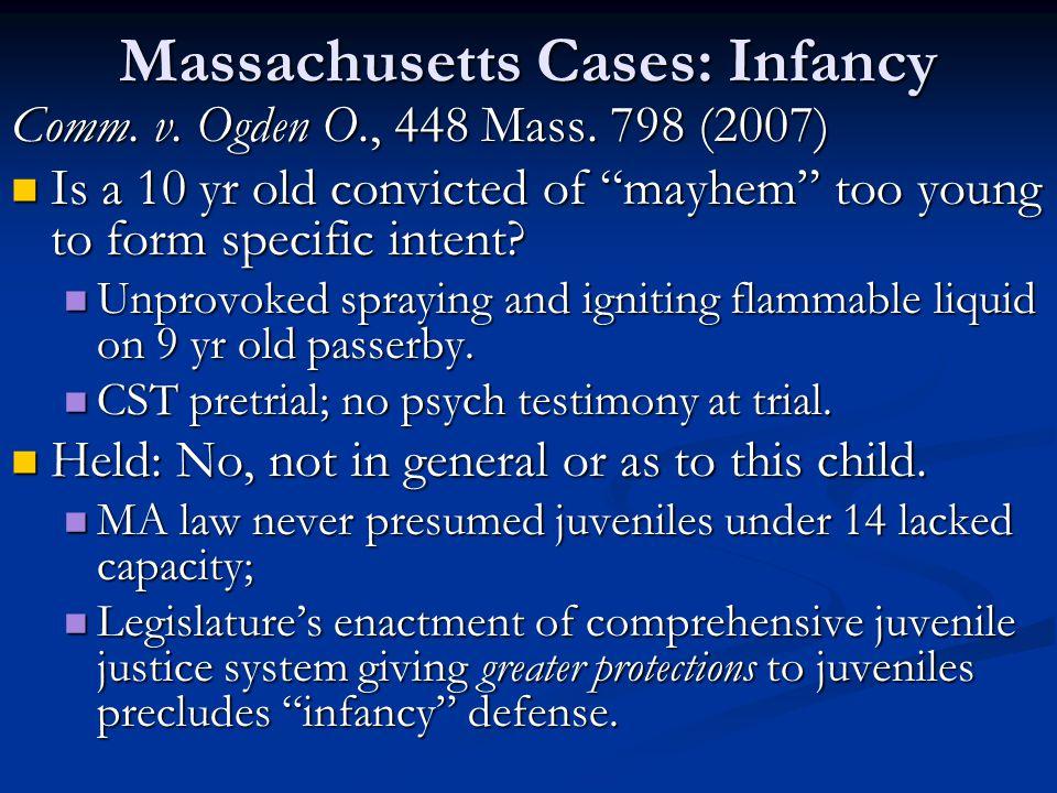 Massachusetts Cases: Infancy Comm. v. Ogden O., 448 Mass.