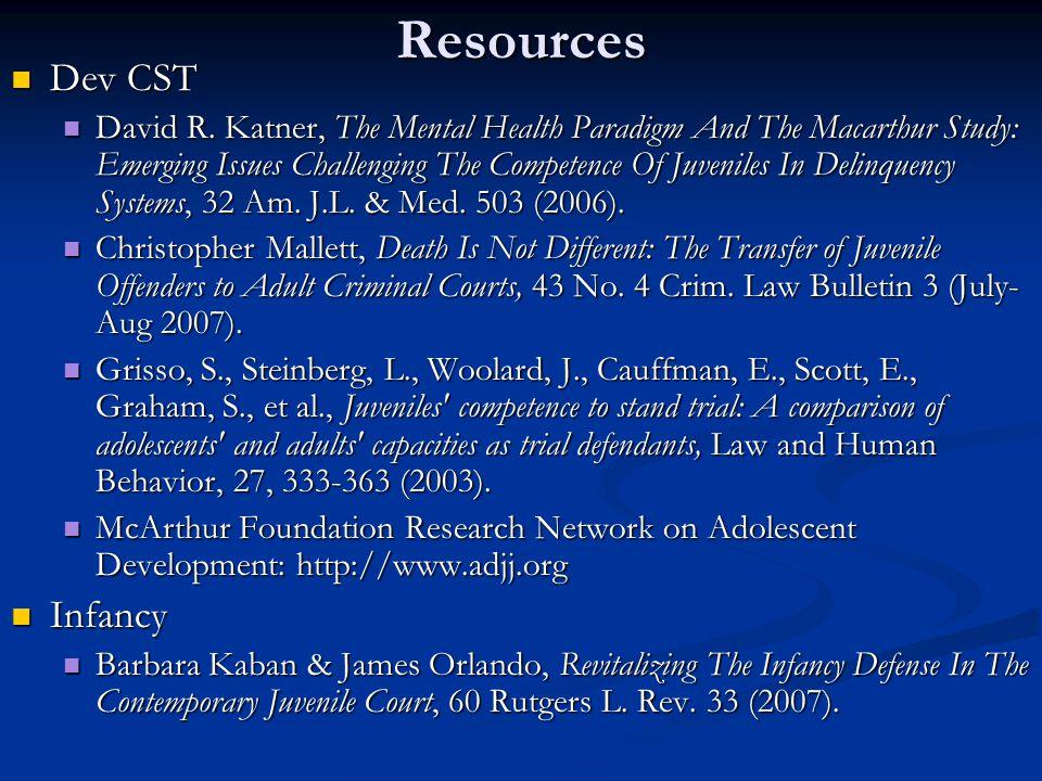 Resources Dev CST Dev CST David R.