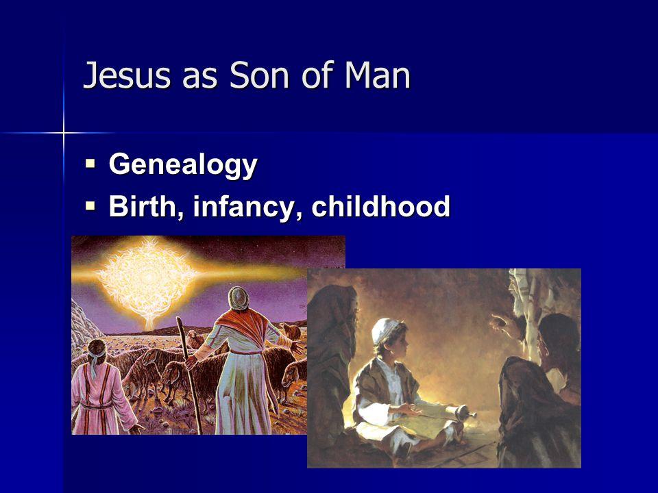 Jesus as Son of Man  Genealogy  Birth, infancy, childhood