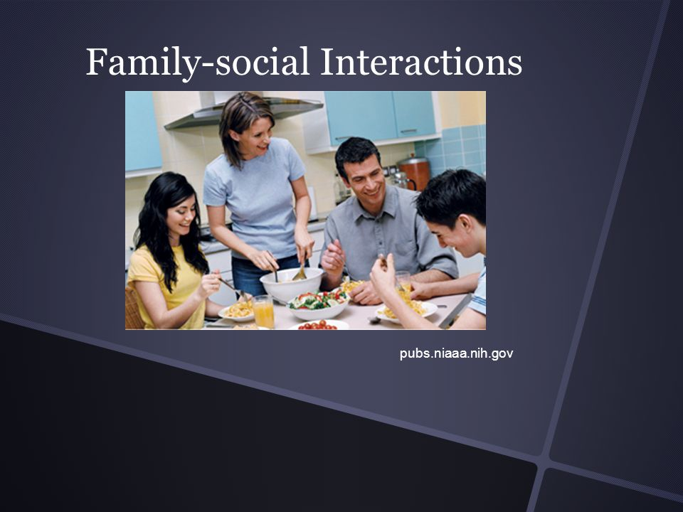 Family-social Interactions pubs.niaaa.nih.gov