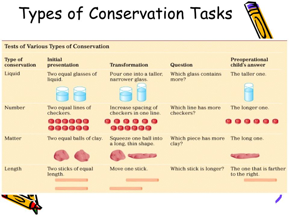 Types of Conservation Tasks