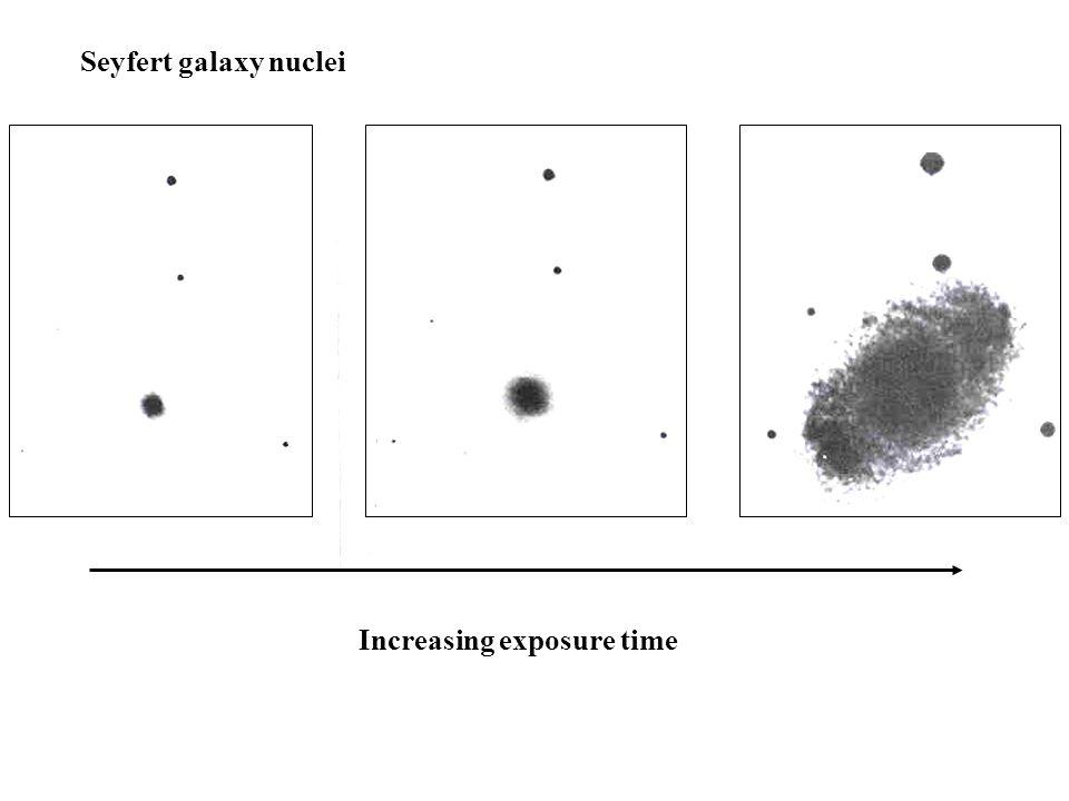 Increasing exposure time Seyfert galaxy nuclei