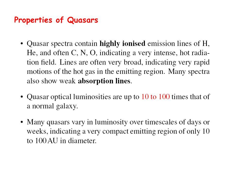 Properties of Quasars