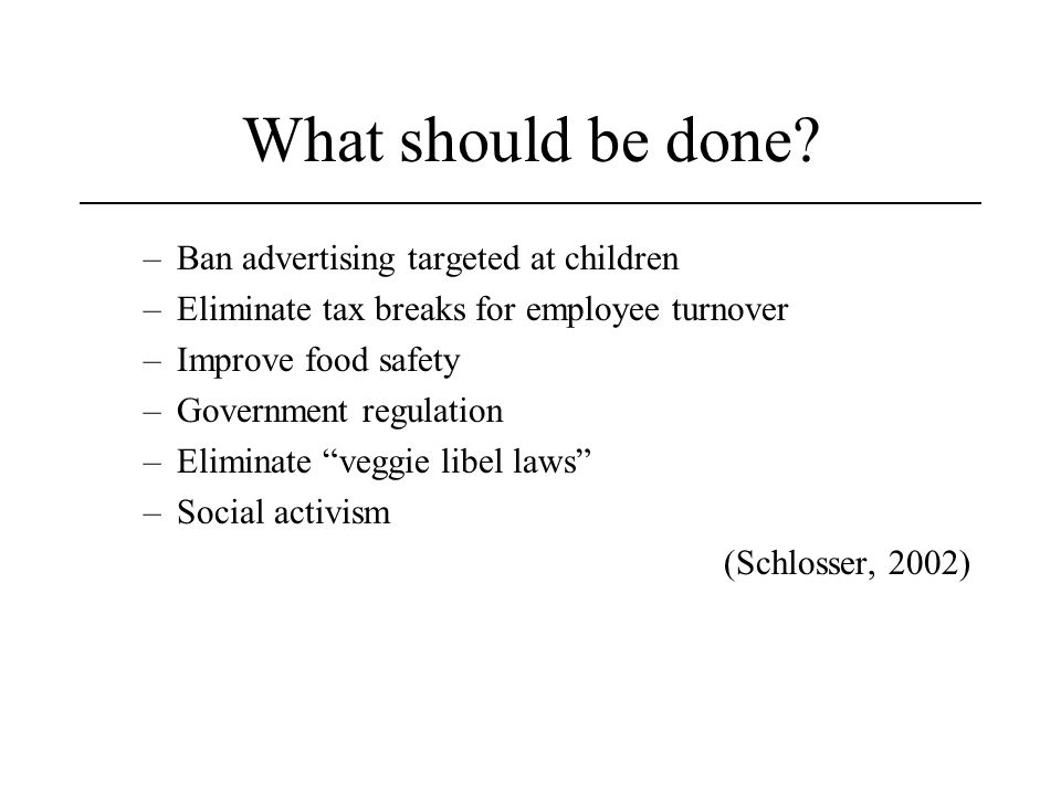 What should be done.