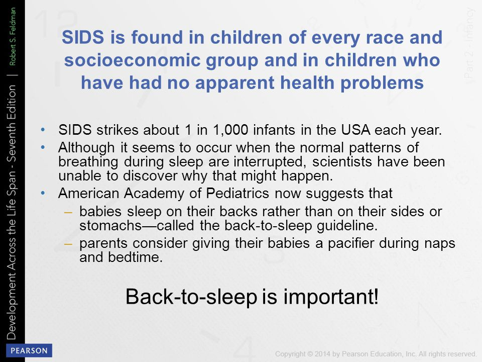 SIDS is found in children of every race and socioeconomic group and in children who have had no apparent health problems SIDS strikes about 1 in 1,000 infants in the USA each year.