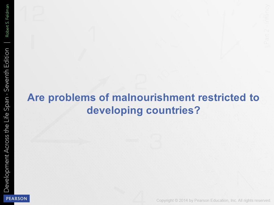 Are problems of malnourishment restricted to developing countries?