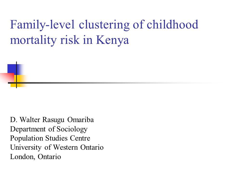 2 Background Mortality decline in Kenya began in late 1940s.