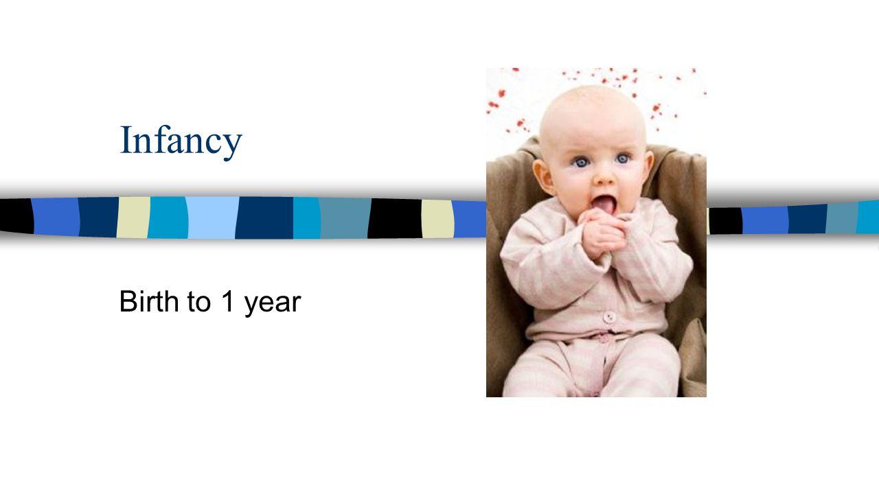Infancy Birth to 1 year