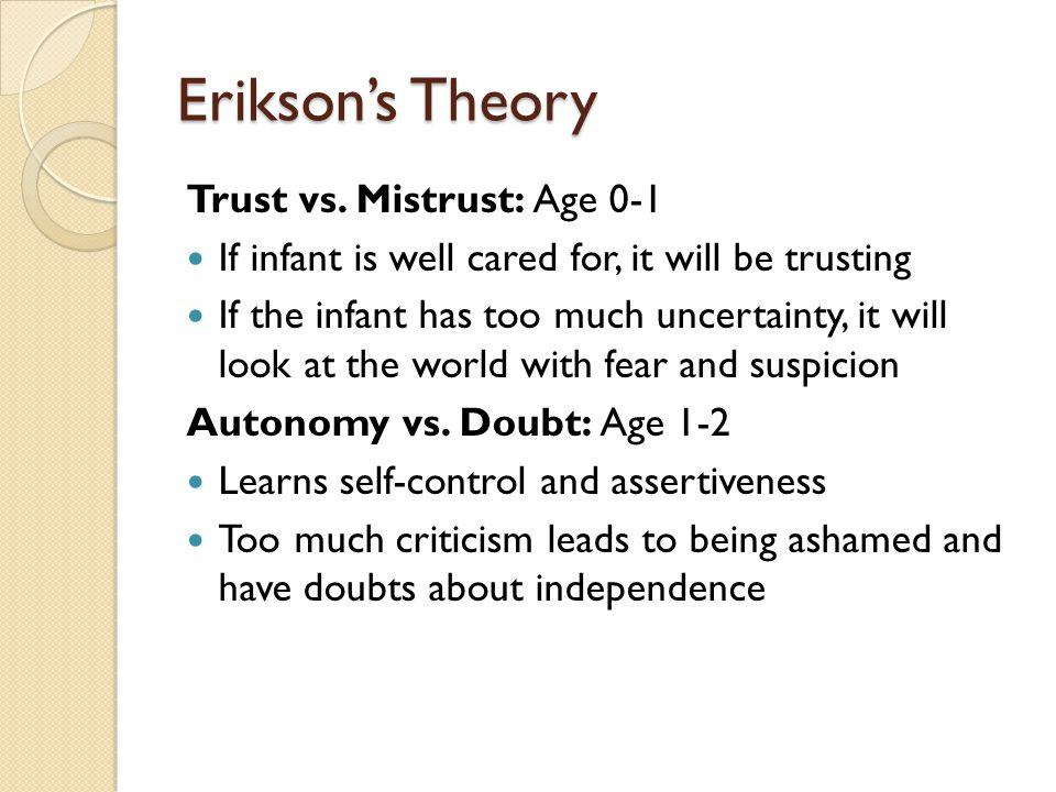 Erikson's Theory Trust vs.