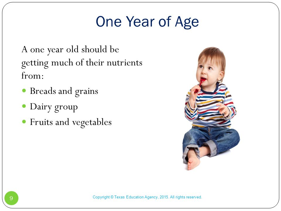 One Year of Age Copyright © Texas Education Agency, 2015.
