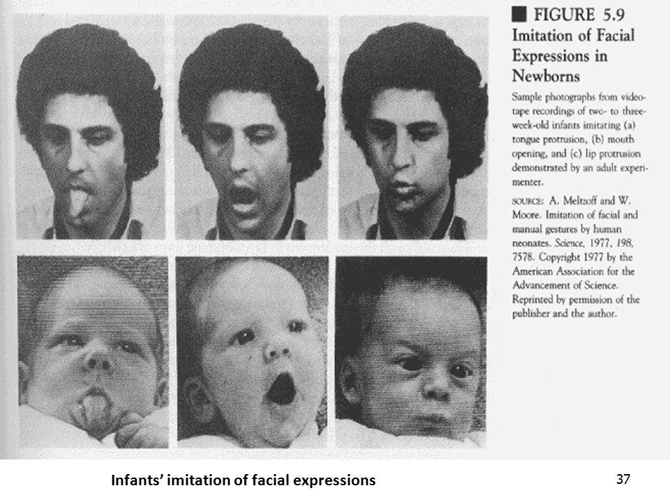 37 Infants' imitation of facial expressions