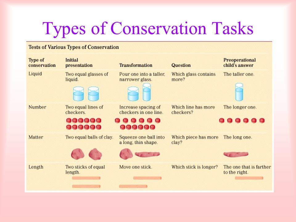 Types of Conservation Tasks