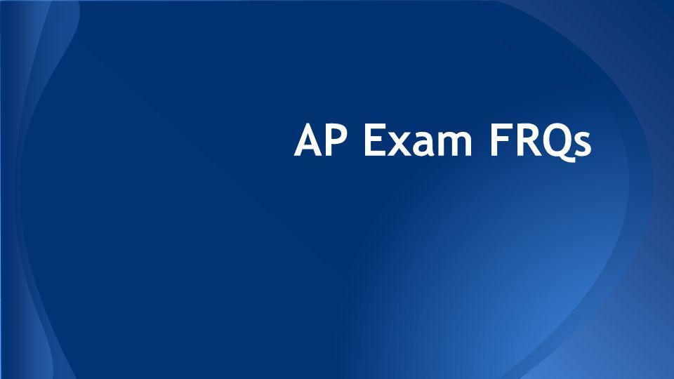 AP Exam FRQs