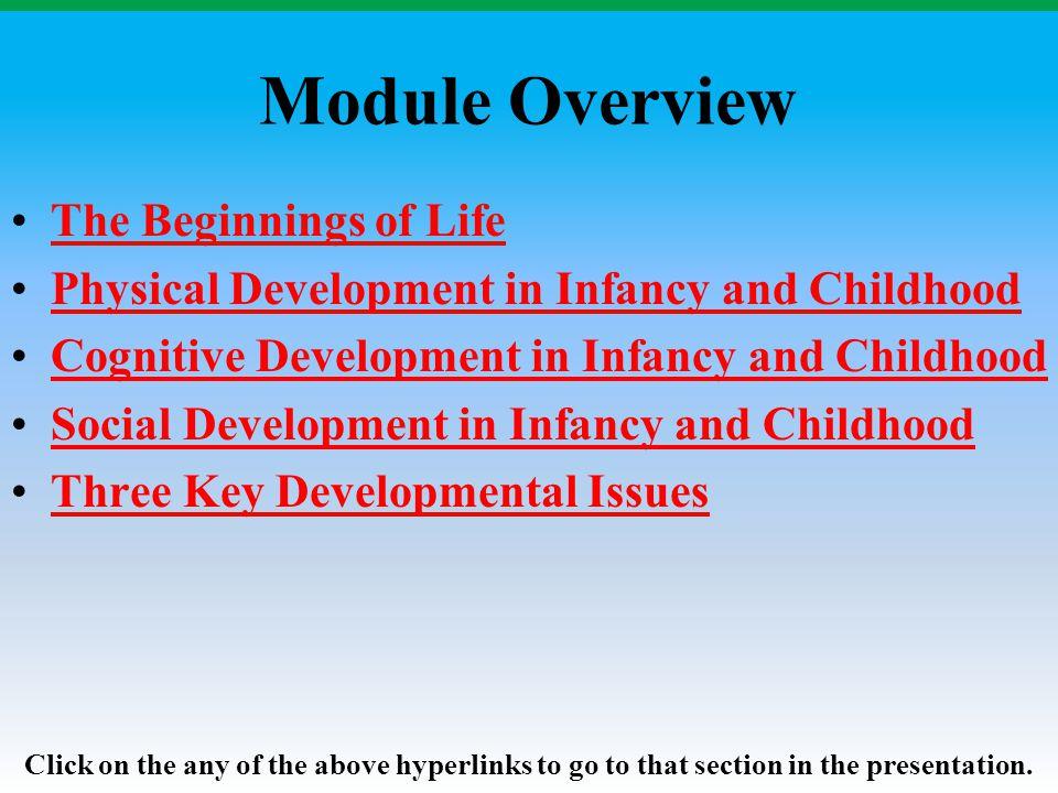 The Beginnings of Life: Prenatal Development Module 11: Prenatal and Childhood Development