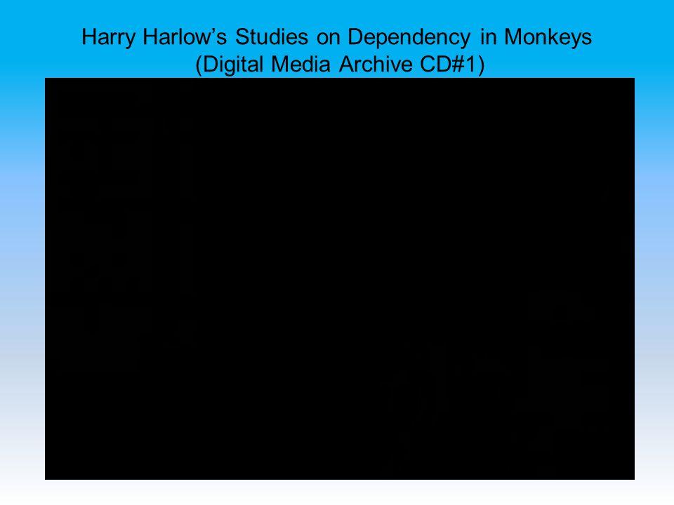 Harry Harlow's Studies on Dependency in Monkeys (Digital Media Archive CD#1)