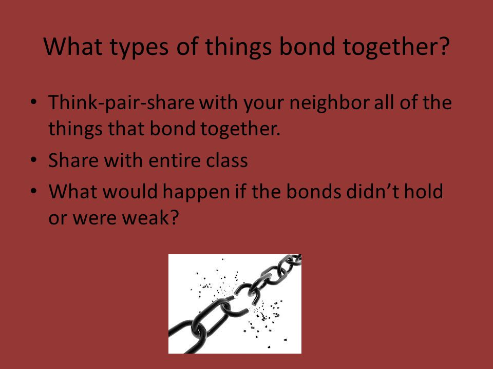 Bonding Bonding is term used to describe a parent's tie to an infant and typically occurs early in the child's life.