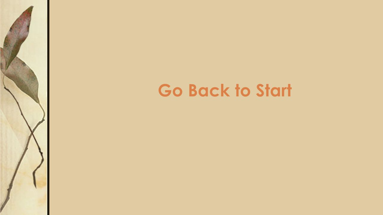 Go Back to Start