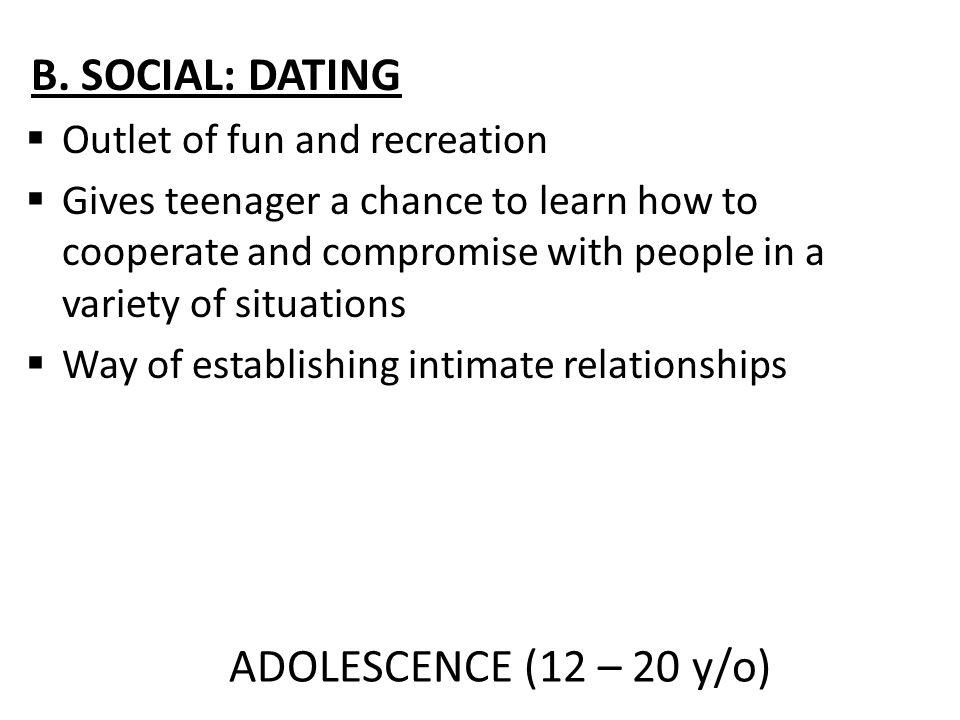 ADOLESCENCE (12 – 20 y/o) B.
