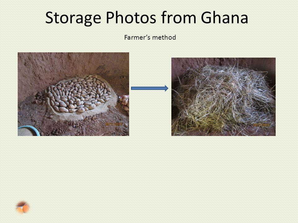 Storage Photos from Ghana Farmer's method