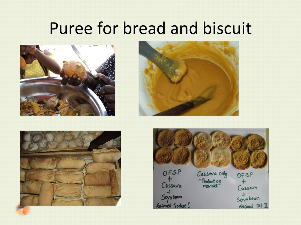 Puree for bread and biscuit
