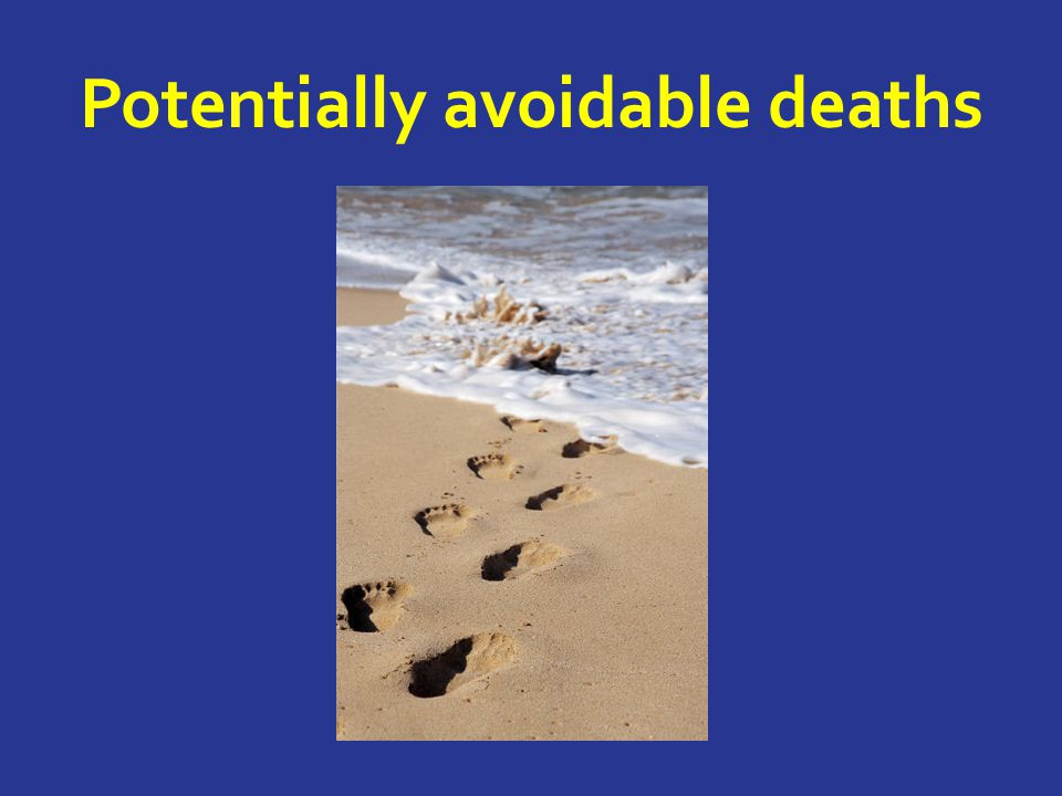 Potentially avoidable deaths