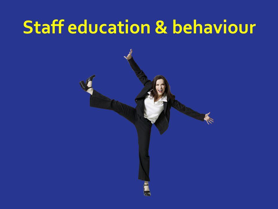 Staff education & behaviour