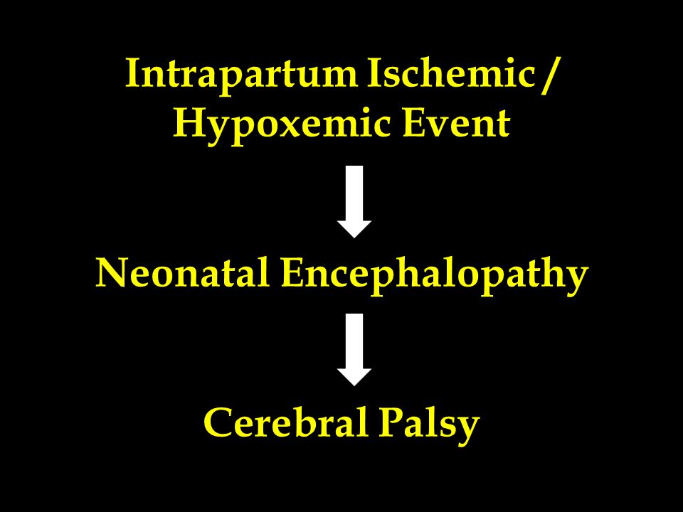 Intrapartum Ischemic / Hypoxemic Event Neonatal Encephalopathy Cerebral Palsy