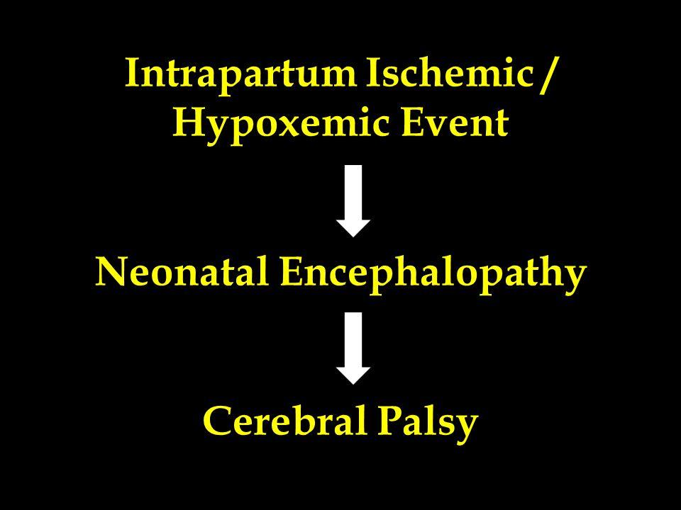 Intrapartum Ischemic / Hypoxemic Event Neonatal Encephalopathy Cerebral Palsy