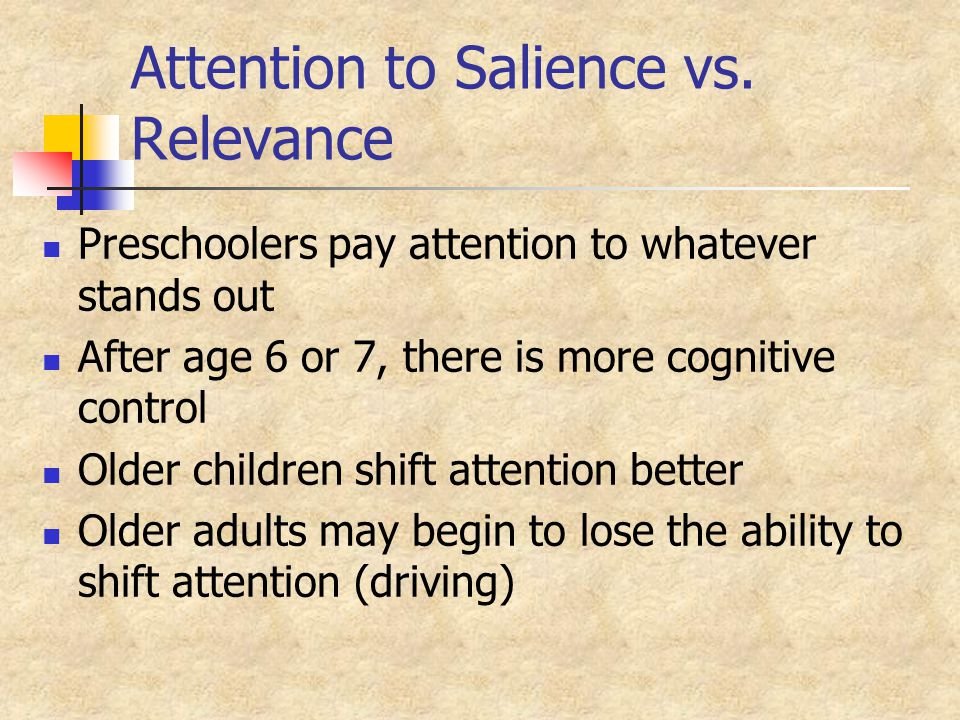 Metamemory (Use of Strategies) Improves During Childhood At Ages 5-6, do not know that related items are easier to remember Gist is easier than verbatim Inflated opinion of their memory abilities