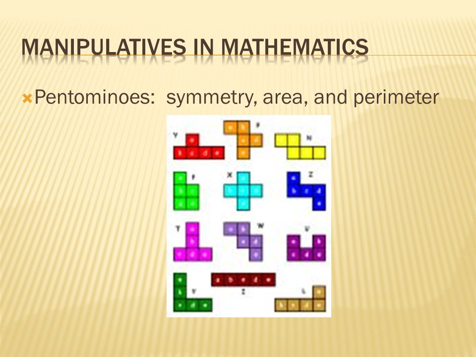  Pentominoes: symmetry, area, and perimeter