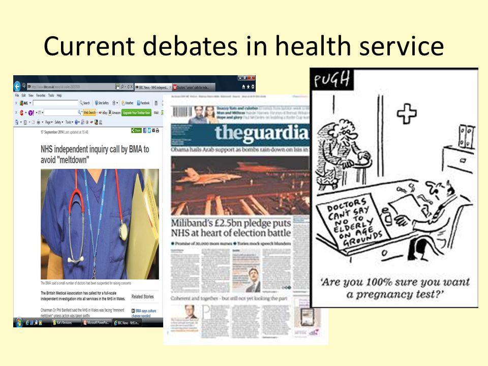 Current debates in health service