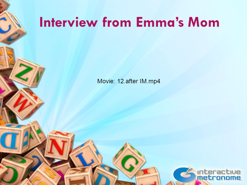 Interview from Emma's Mom Movie: 12.after IM.mp4