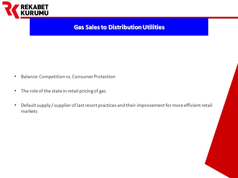 Prepared by Barış EKDİ Gas Sales to Distribution Utilities Balance: Competition vs.