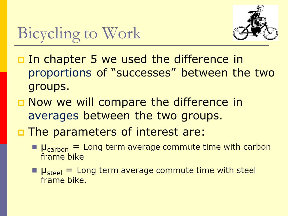  In chapter 5 we used the difference in proportions of successes between the two groups.