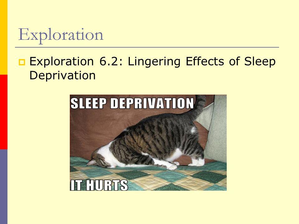 Exploration  Exploration 6.2: Lingering Effects of Sleep Deprivation