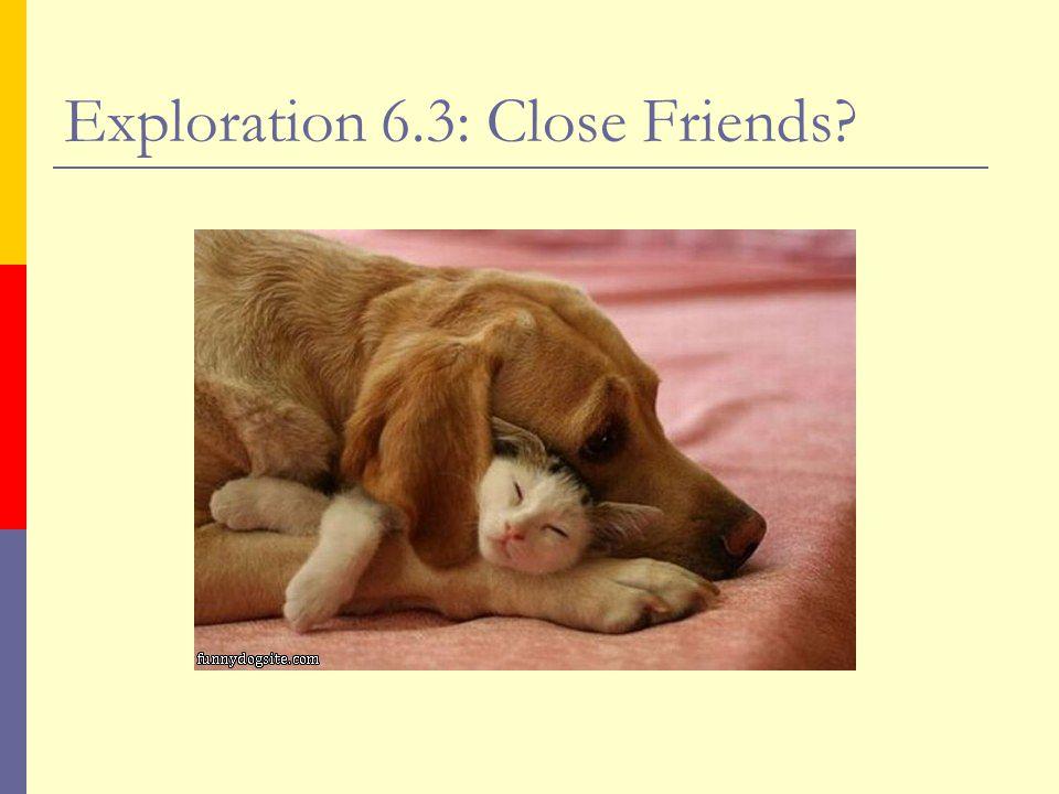 Exploration 6.3: Close Friends?
