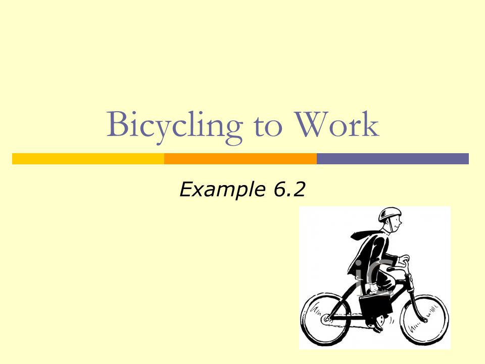  Does bicycle weight affect commute time.