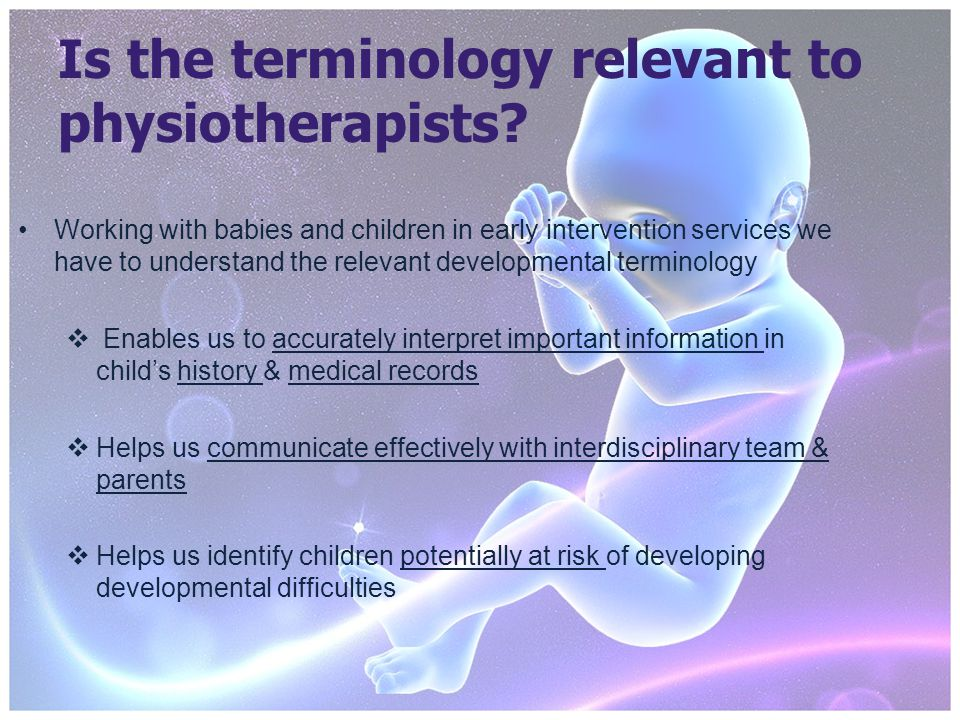 Is the terminology relevant to physiotherapists.