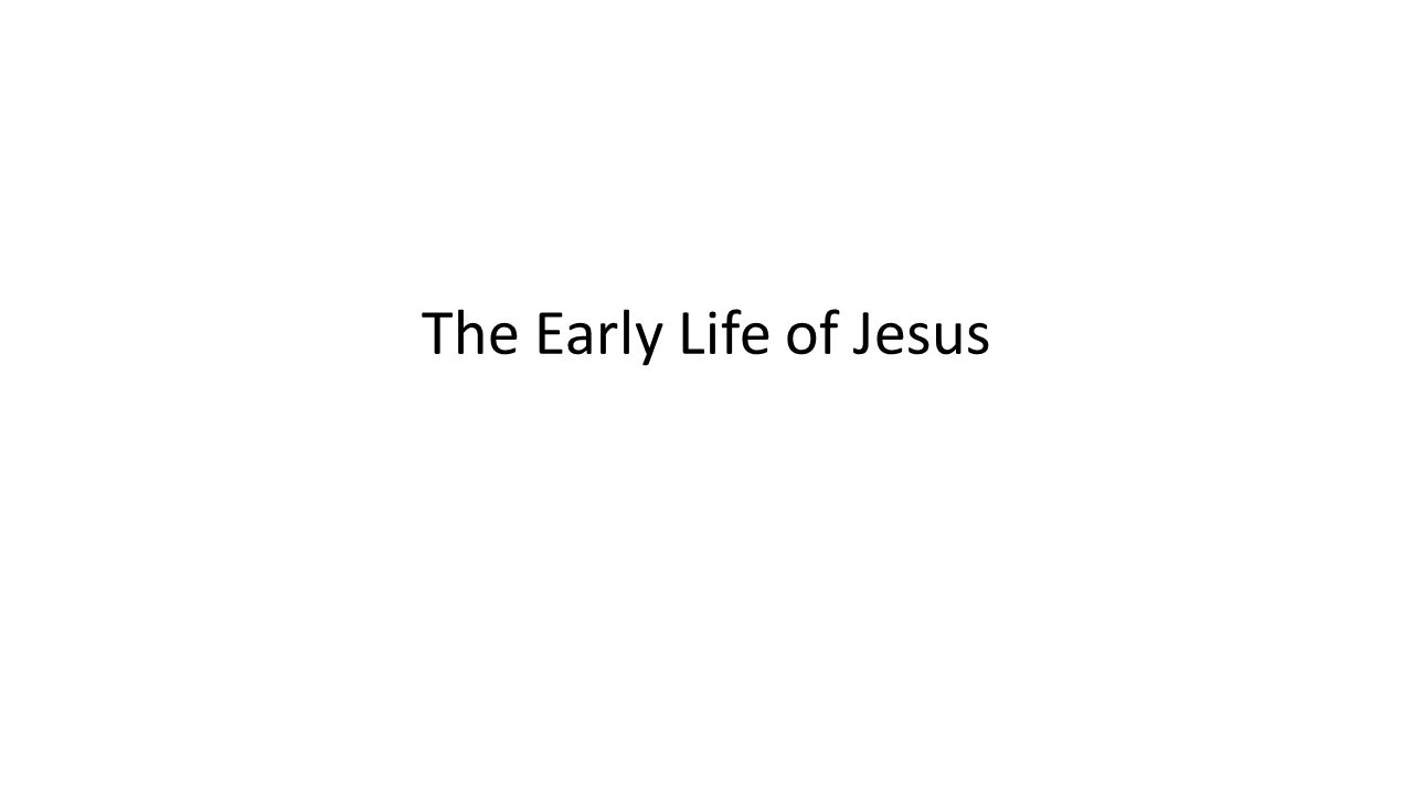 Gospel stories of Jesus' early life Infancy Narratives – Matthew – Luke – Written to show who Jesus was By presenting his coming using beautiful and miraculous events
